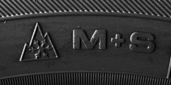 3PMSF en M+S markeringen op autoband