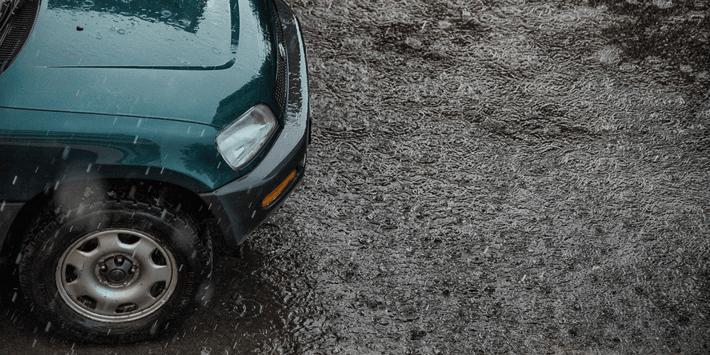 rijden bij regen