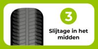 autoband: slijtage in het midden